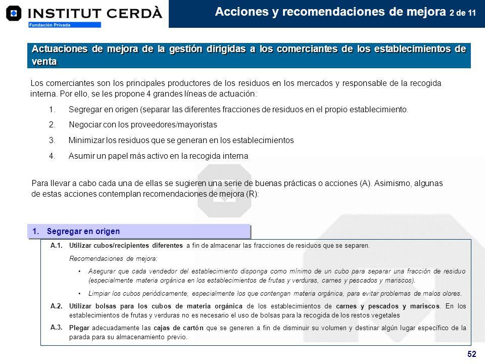 Acciones y recomendaciones de mejora 2 de 11