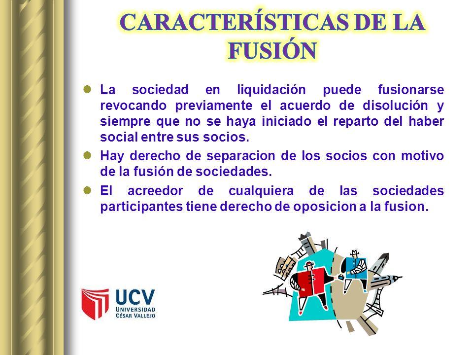 CARACTERÍSTICAS DE LA FUSIÓN