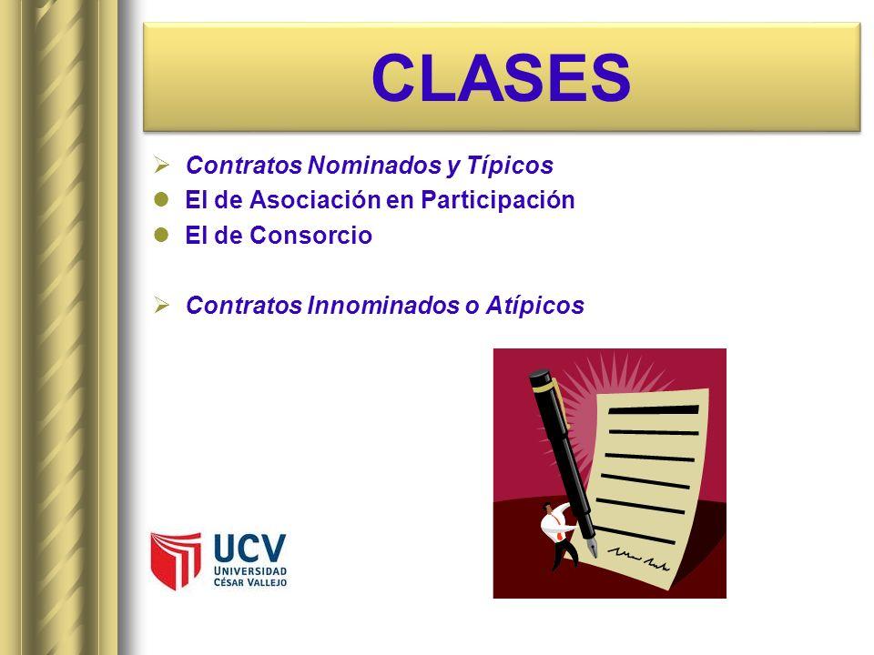 CLASES Contratos Nominados y Típicos El de Asociación en Participación