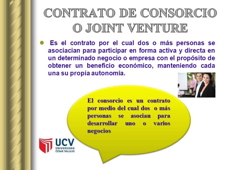 CONTRATO DE CONSORCIO O JOINT VENTURE