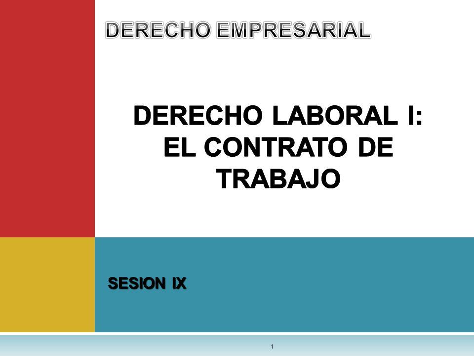 DERECHO LABORAL I: EL CONTRATO DE TRABAJO