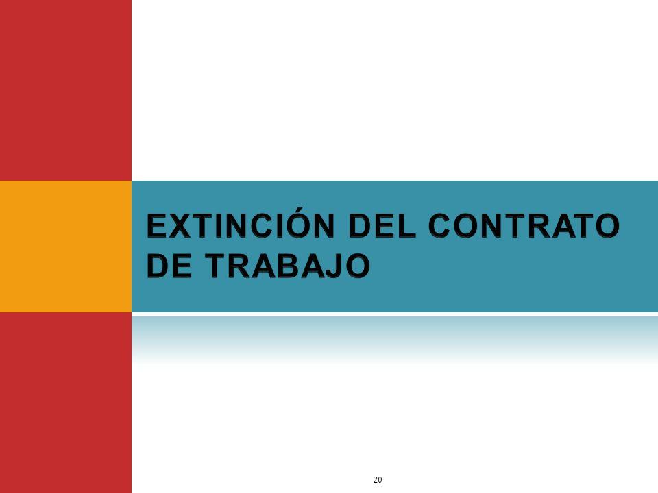 EXTINCIÓN DEL CONTRATO DE TRABAJO