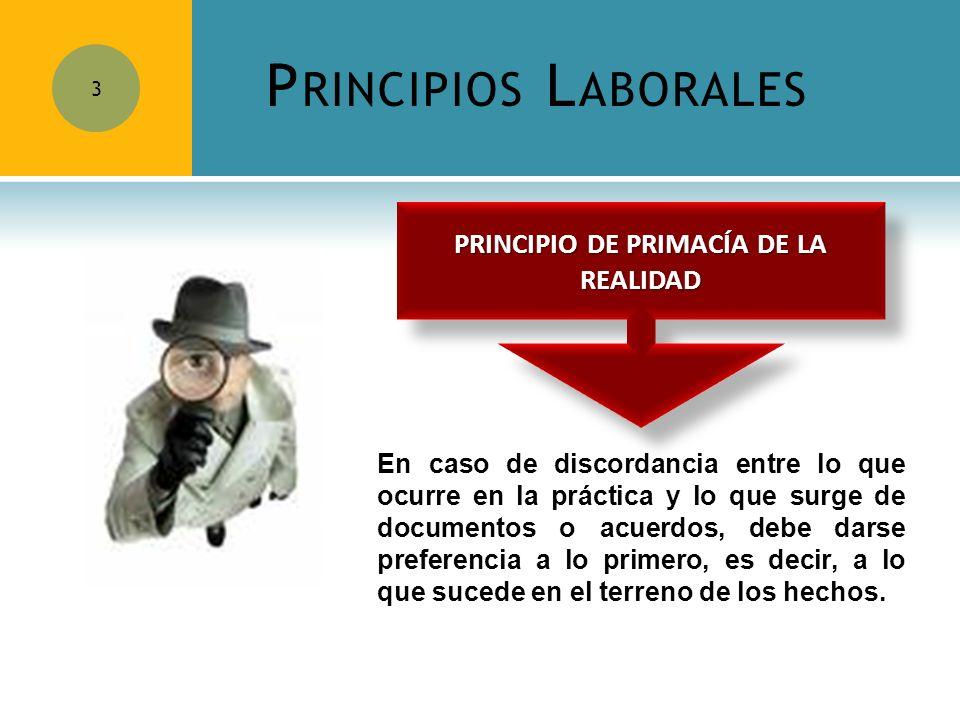 PRINCIPIO DE PRIMACÍA DE LA REALIDAD