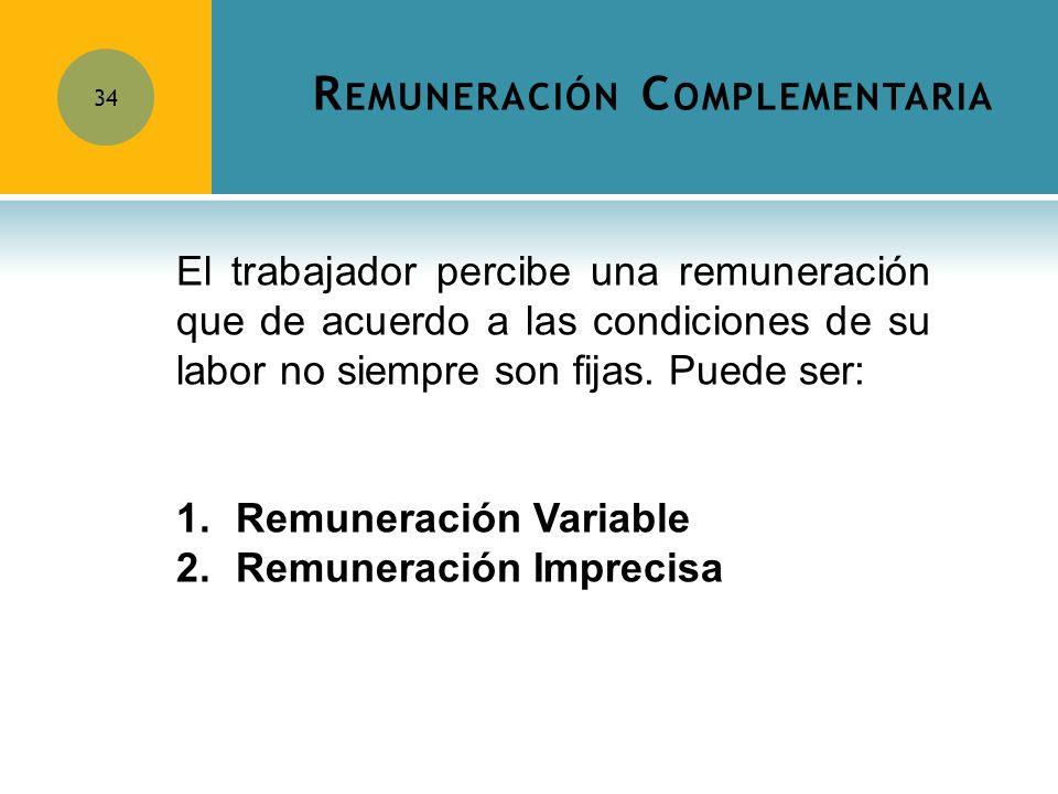 Remuneración Complementaria