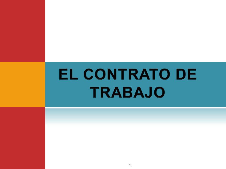 EL CONTRATO DE TRABAJO Dr. Jimmy Márquez Moreno