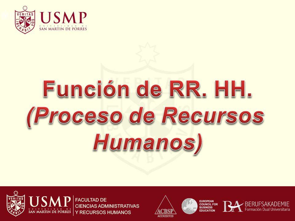 Función de RR. HH. (Proceso de Recursos Humanos)