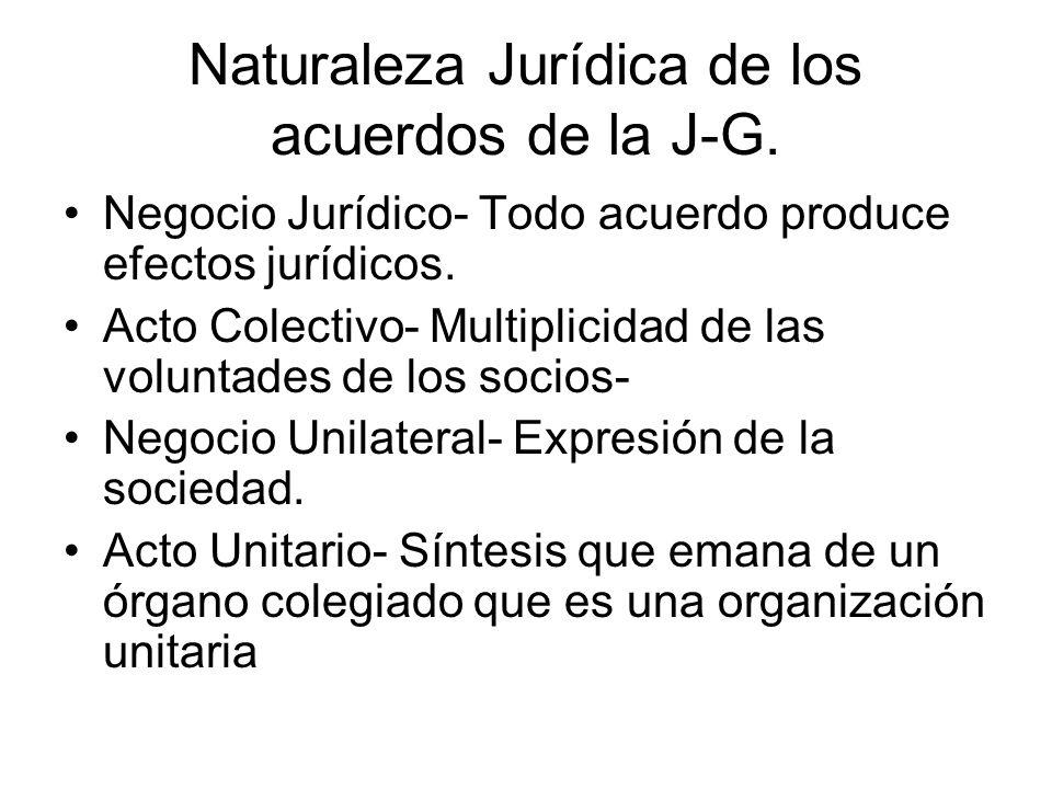 Naturaleza Jurídica de los acuerdos de la J-G.