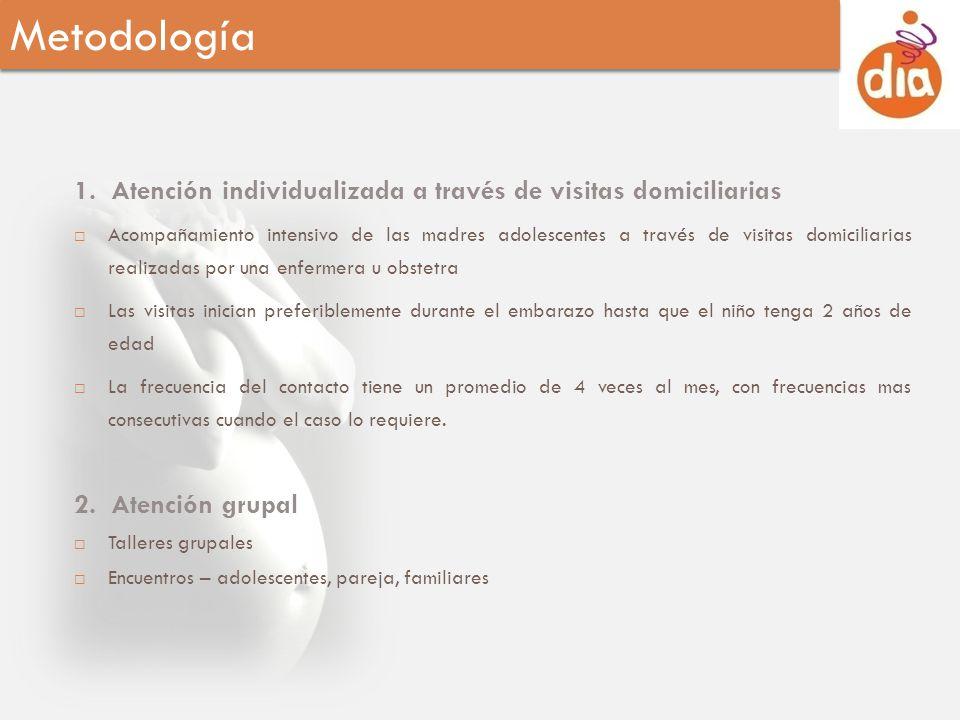 Metodología 1. Atención individualizada a través de visitas domiciliarias.