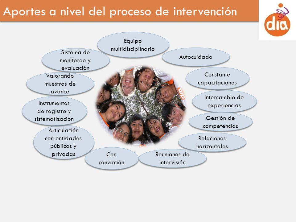 Aportes a nivel del proceso de intervención