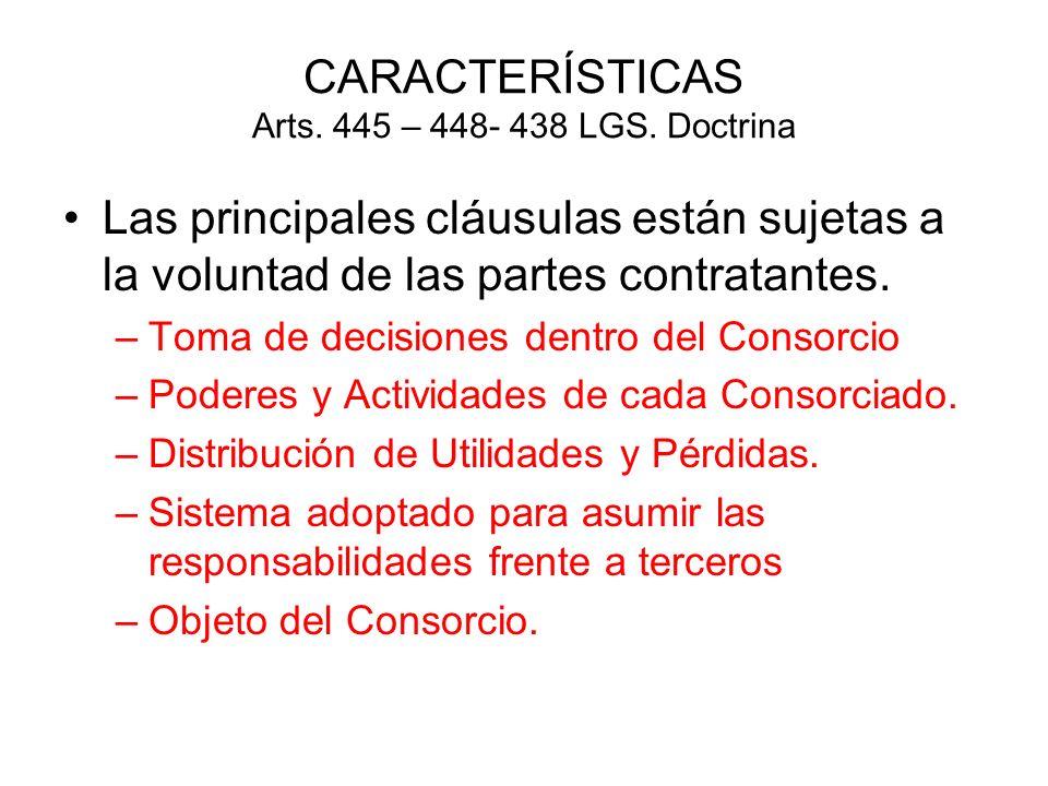 CARACTERÍSTICAS Arts. 445 – 448- 438 LGS. Doctrina