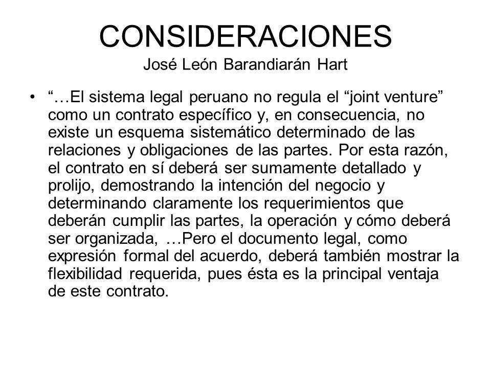 CONSIDERACIONES José León Barandiarán Hart