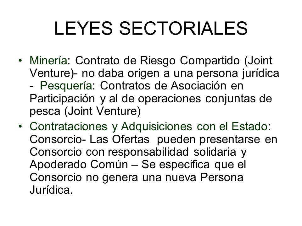LEYES SECTORIALES