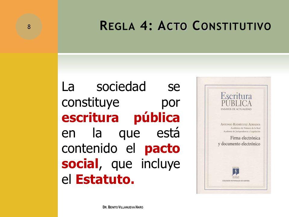 Regla 4: Acto Constitutivo