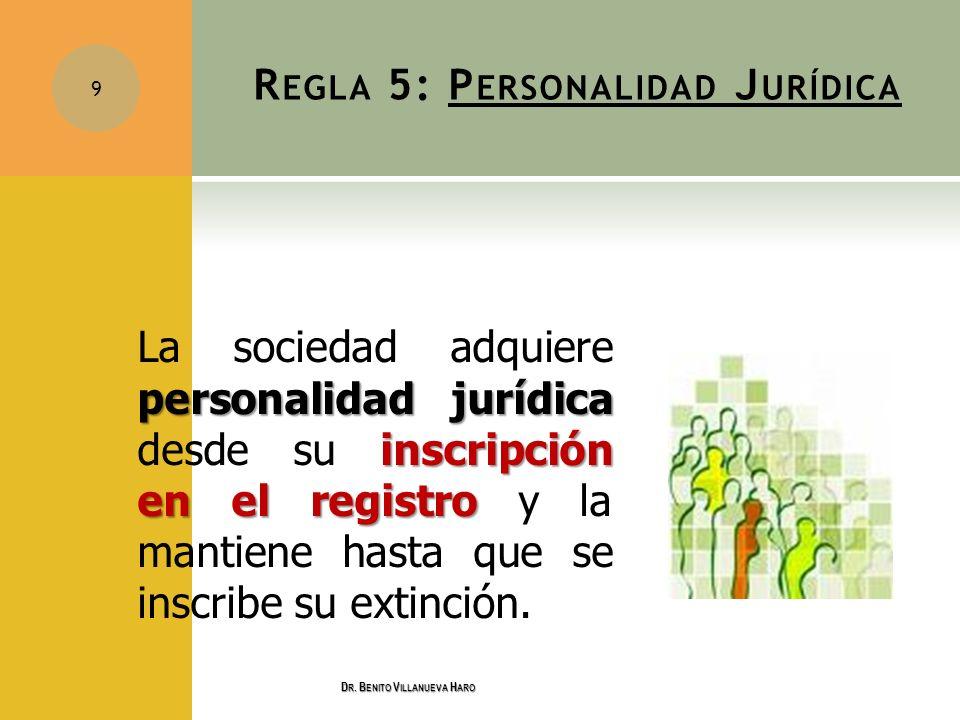 Regla 5: Personalidad Jurídica