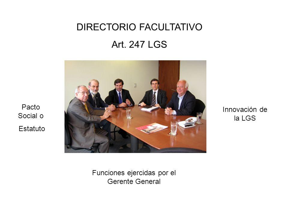 DIRECTORIO FACULTATIVO Art. 247 LGS