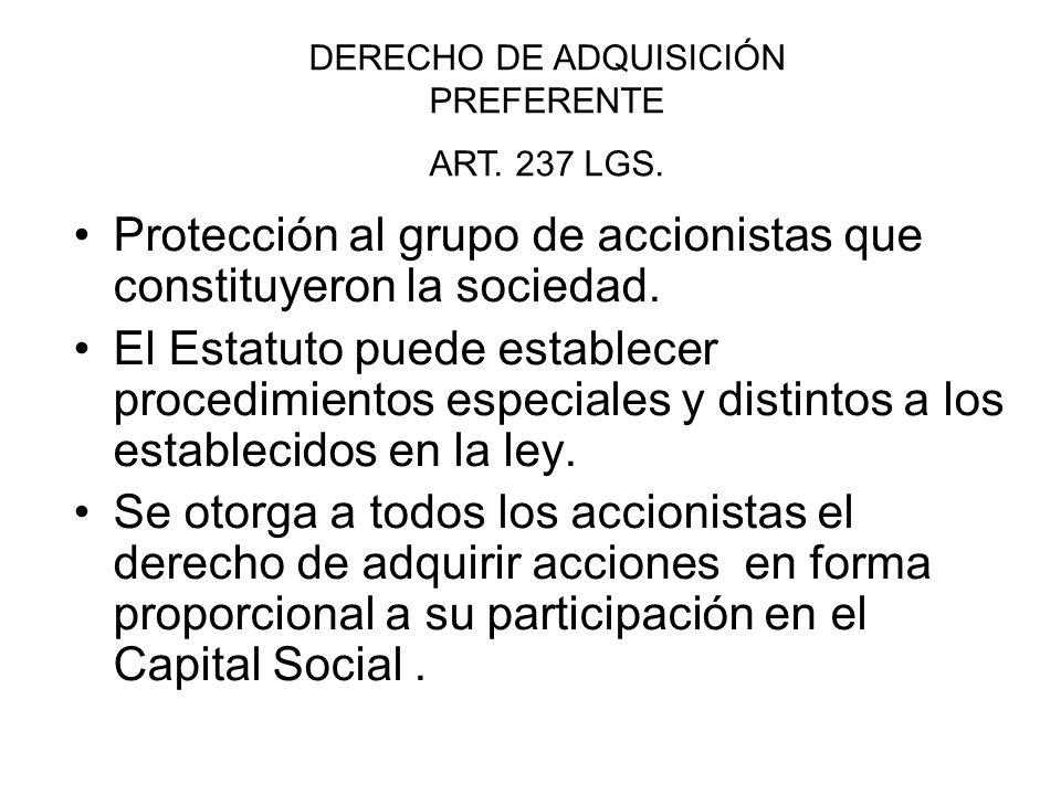 DERECHO DE ADQUISICIÓN PREFERENTE