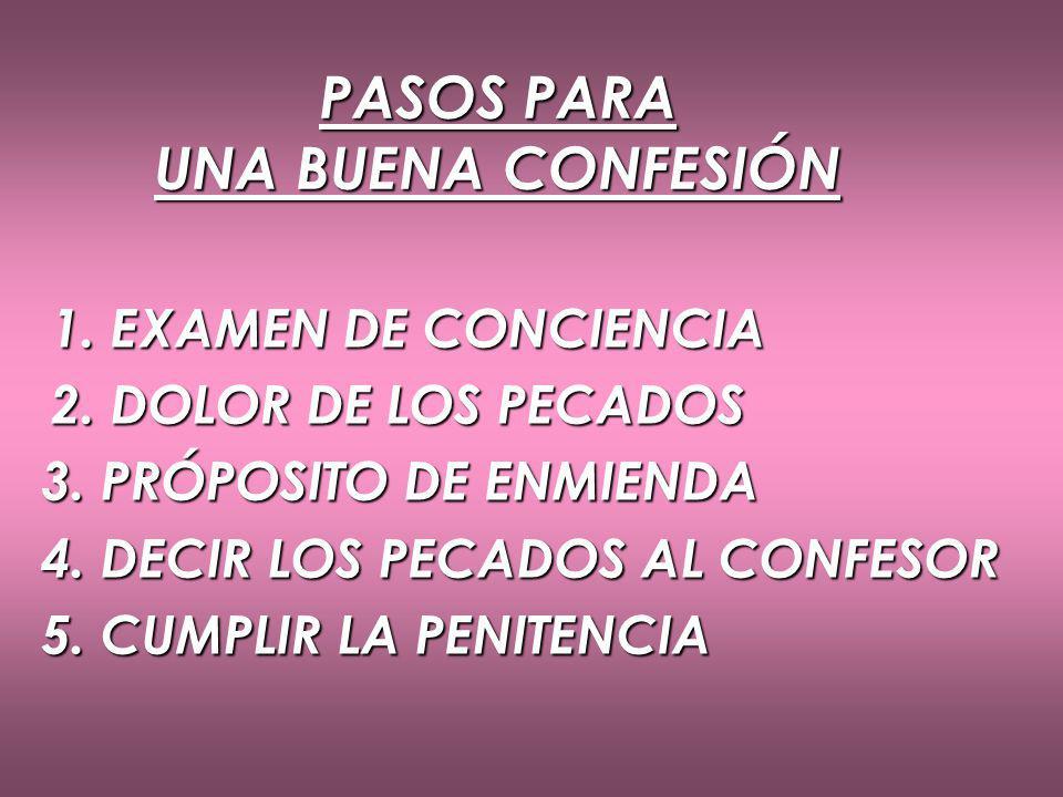PASOS PARA UNA BUENA CONFESIÓN