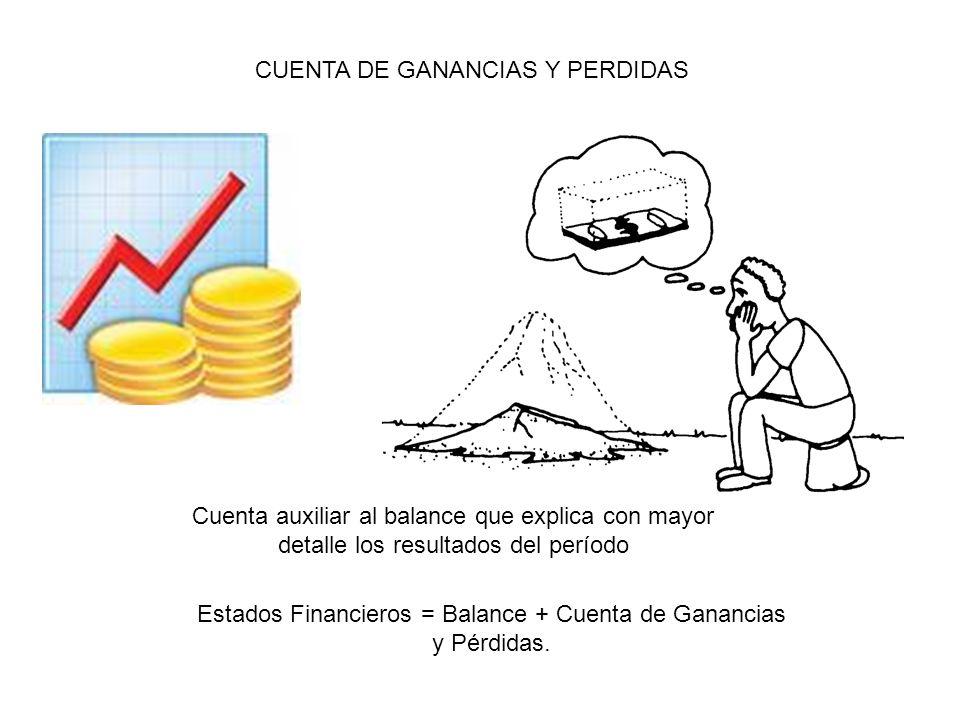 Estados Financieros = Balance + Cuenta de Ganancias y Pérdidas.