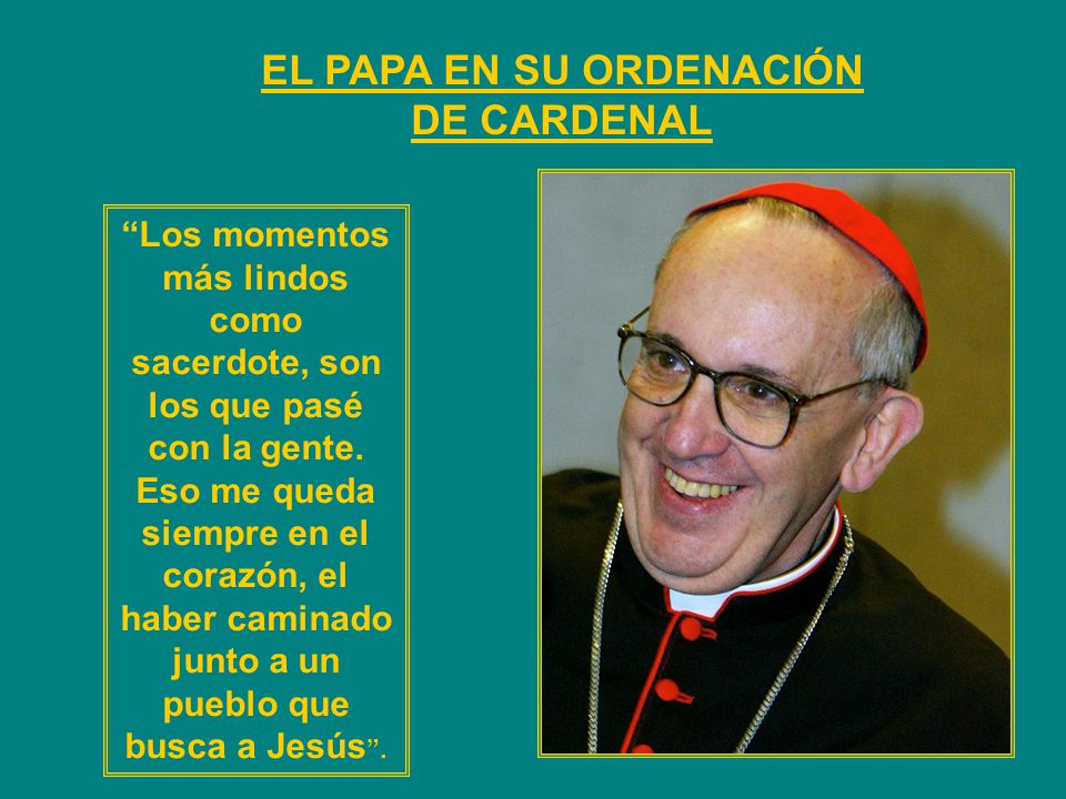EL PAPA EN SU ORDENACIÓN DE CARDENAL