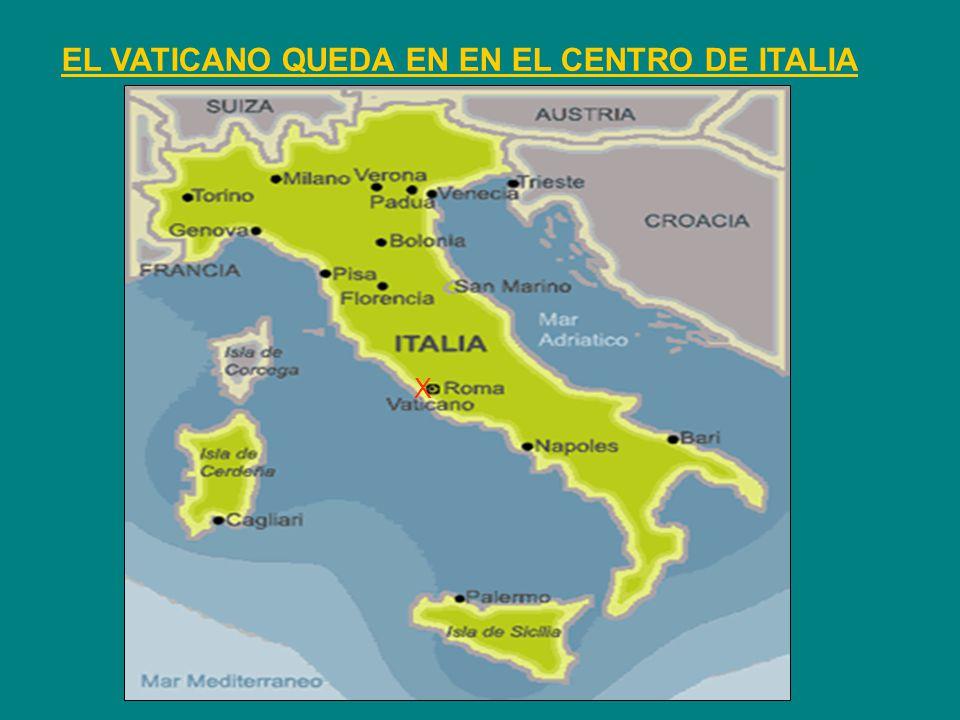 EL VATICANO QUEDA EN EN EL CENTRO DE ITALIA