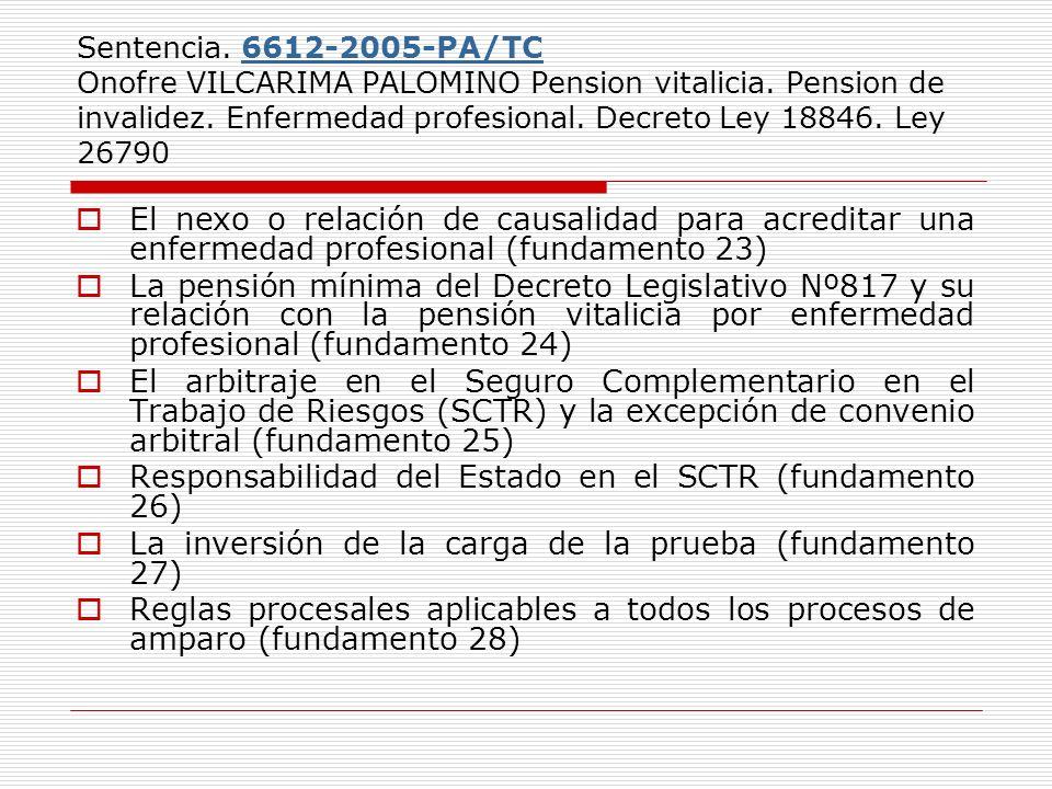 Responsabilidad del Estado en el SCTR (fundamento 26)