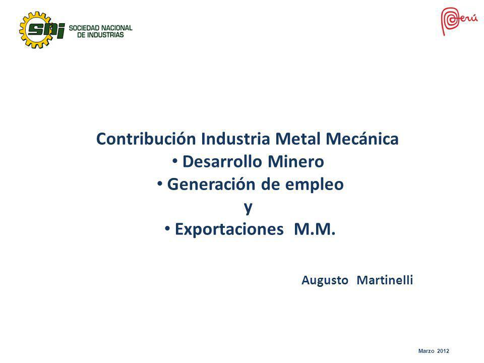 Contribución Industria Metal Mecánica