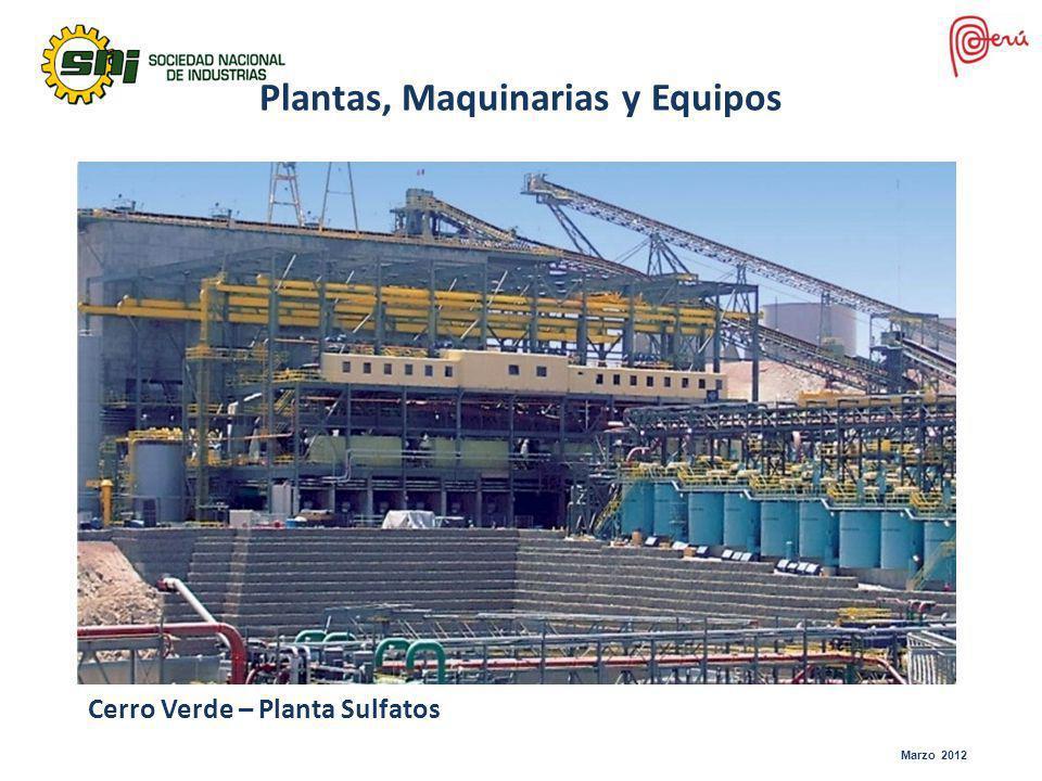 Plantas, Maquinarias y Equipos