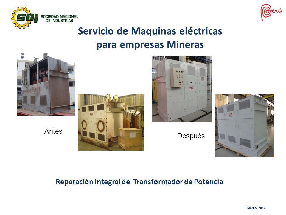 Servicio de Maquinas eléctricas para empresas Mineras