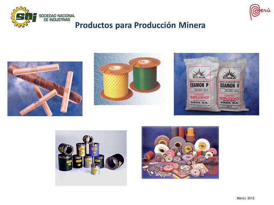 Productos para Producción Minera