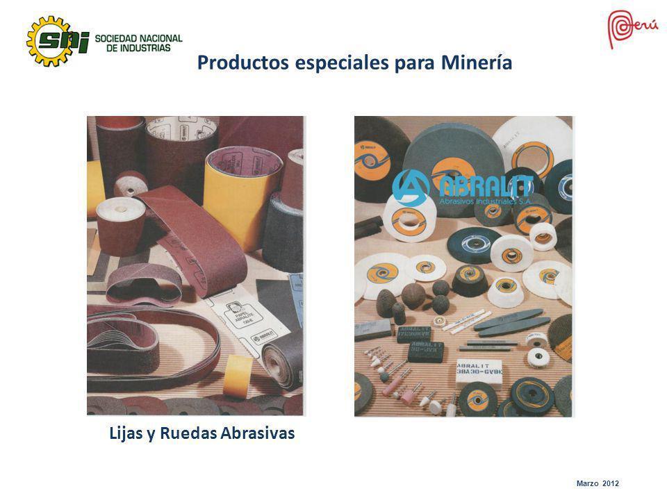Productos especiales para Minería