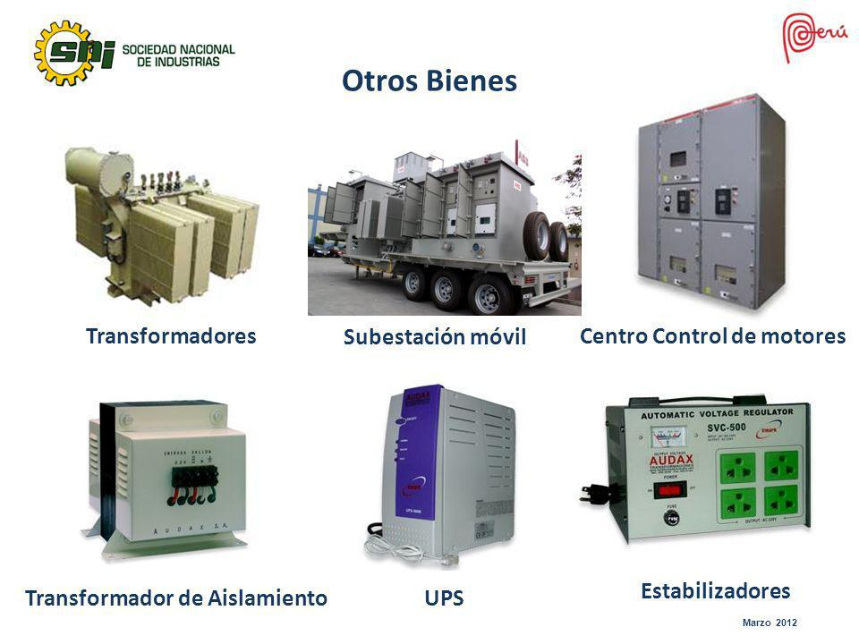 Otros Bienes Transformadores Subestación móvil
