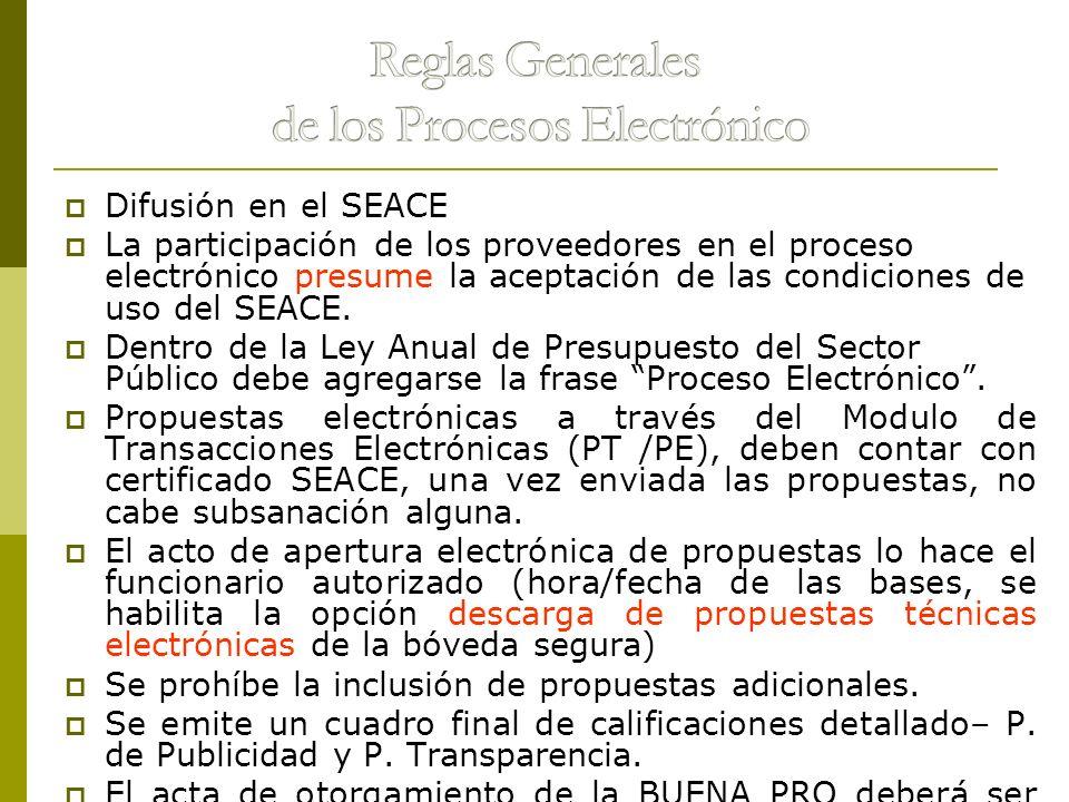 Reglas Generales de los Procesos Electrónico