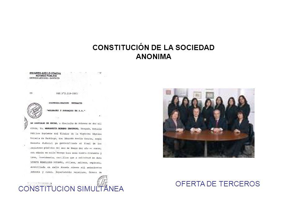 CONSTITUCIÓN DE LA SOCIEDAD ANONIMA
