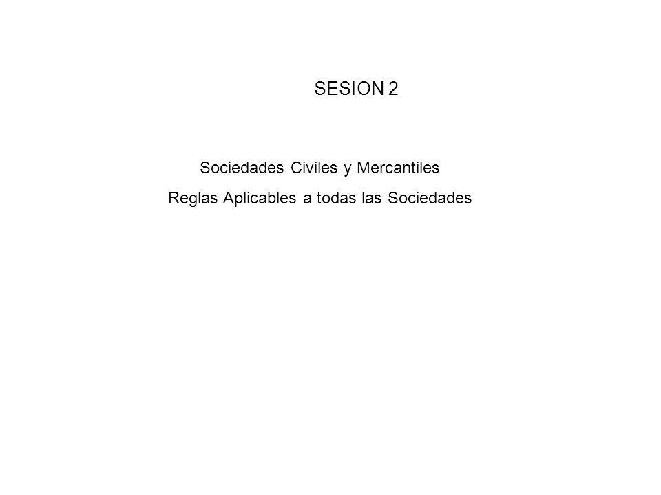 SESION 2 Sociedades Civiles y Mercantiles