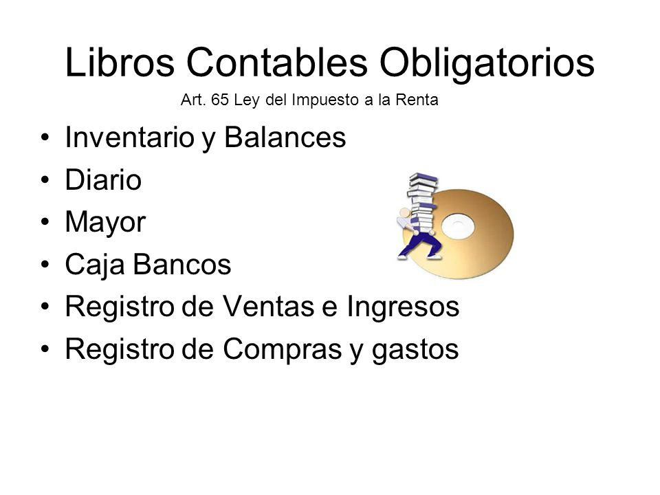 Libros Contables Obligatorios