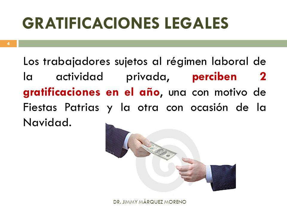 GRATIFICACIONES LEGALES