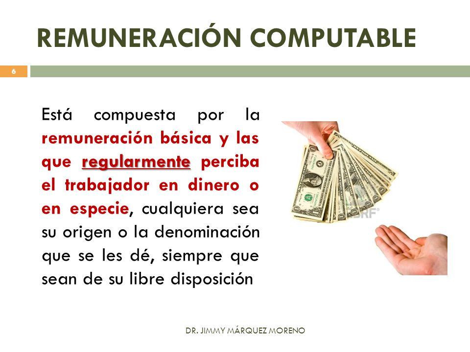 REMUNERACIÓN COMPUTABLE