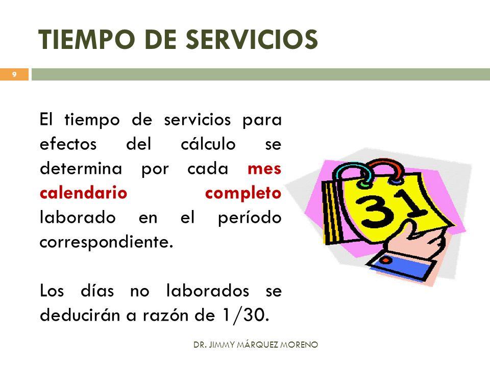 TIEMPO DE SERVICIOS