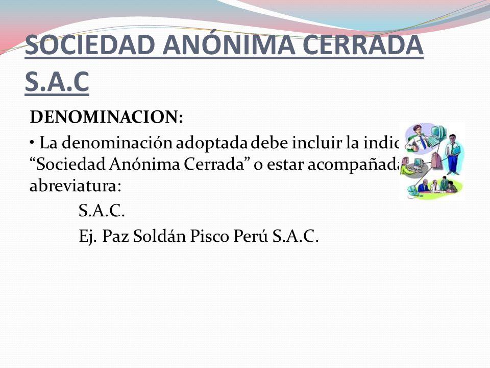 SOCIEDAD ANÓNIMA CERRADA S.A.C