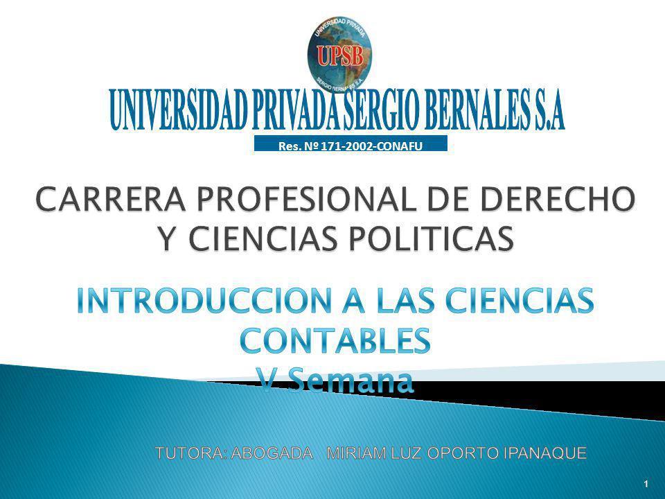 CARRERA PROFESIONAL DE DERECHO Y CIENCIAS POLITICAS