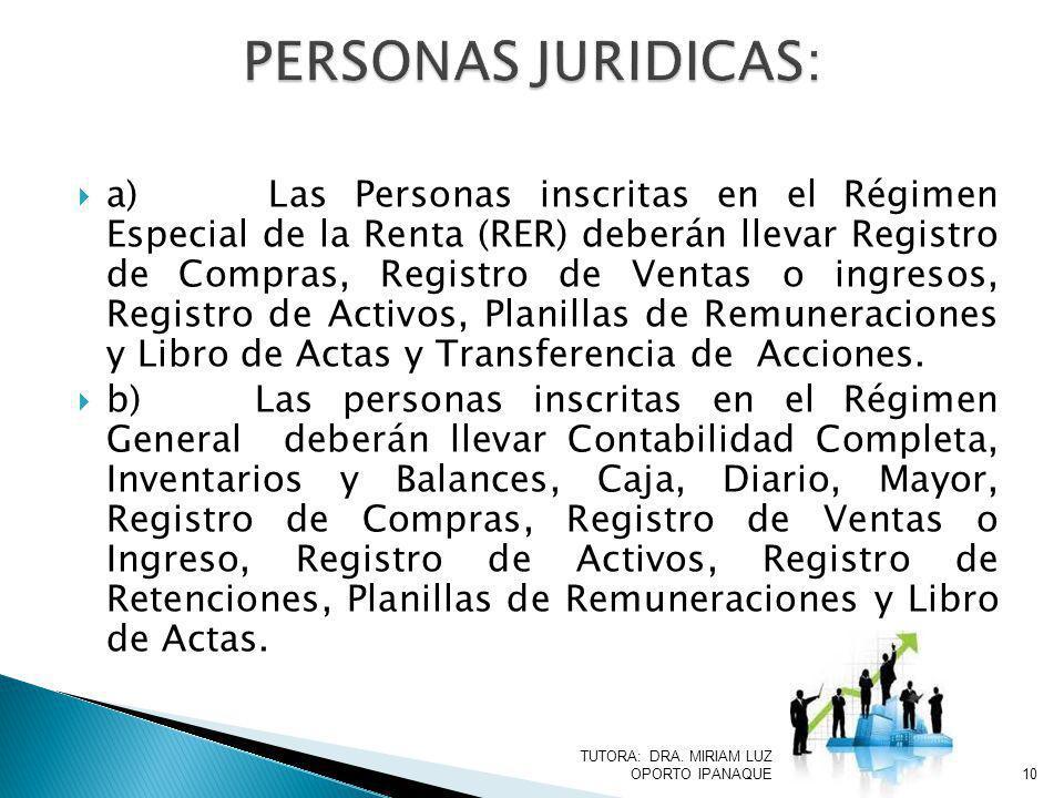 PERSONAS JURIDICAS: