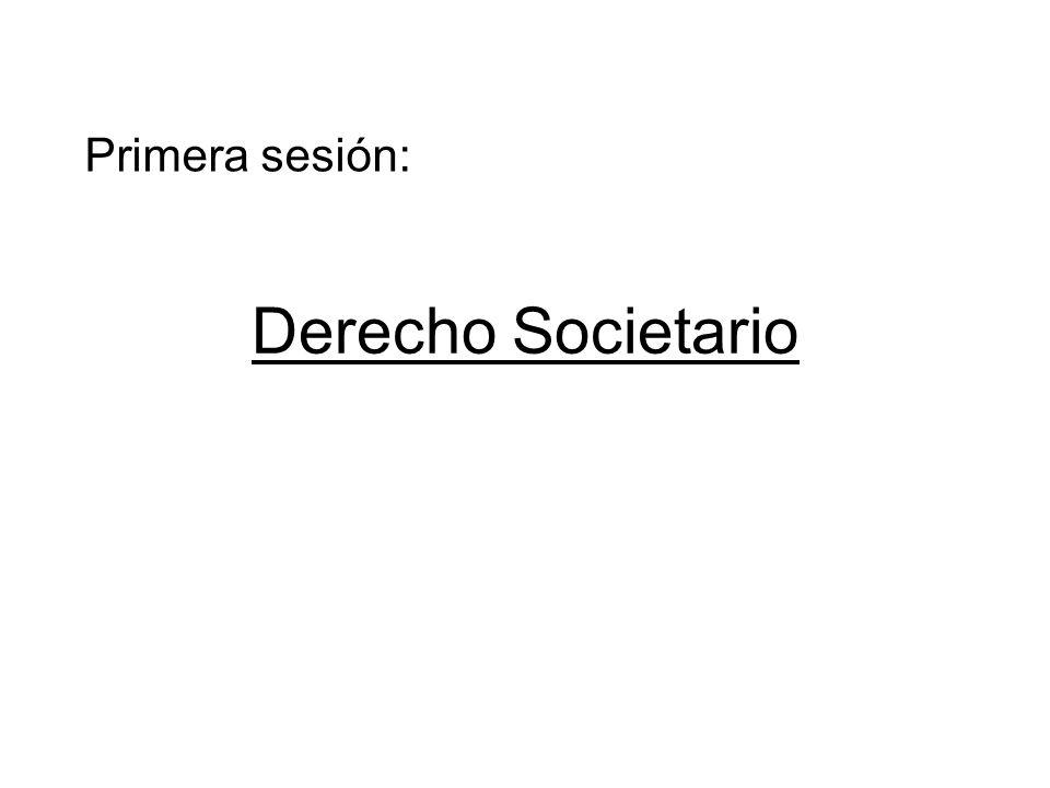 Primera sesión: Derecho Societario