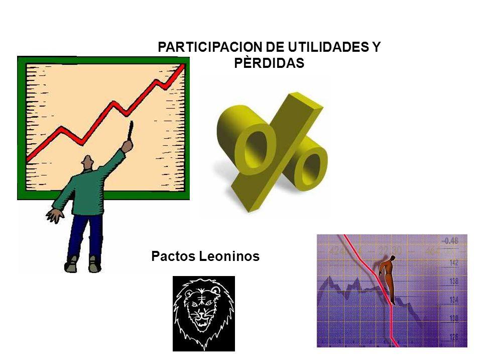 PARTICIPACION DE UTILIDADES Y PÈRDIDAS