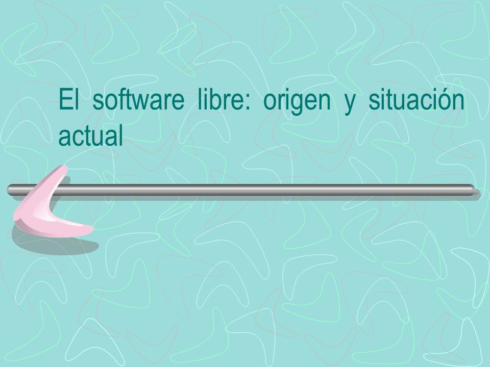 El software libre: origen y situación actual