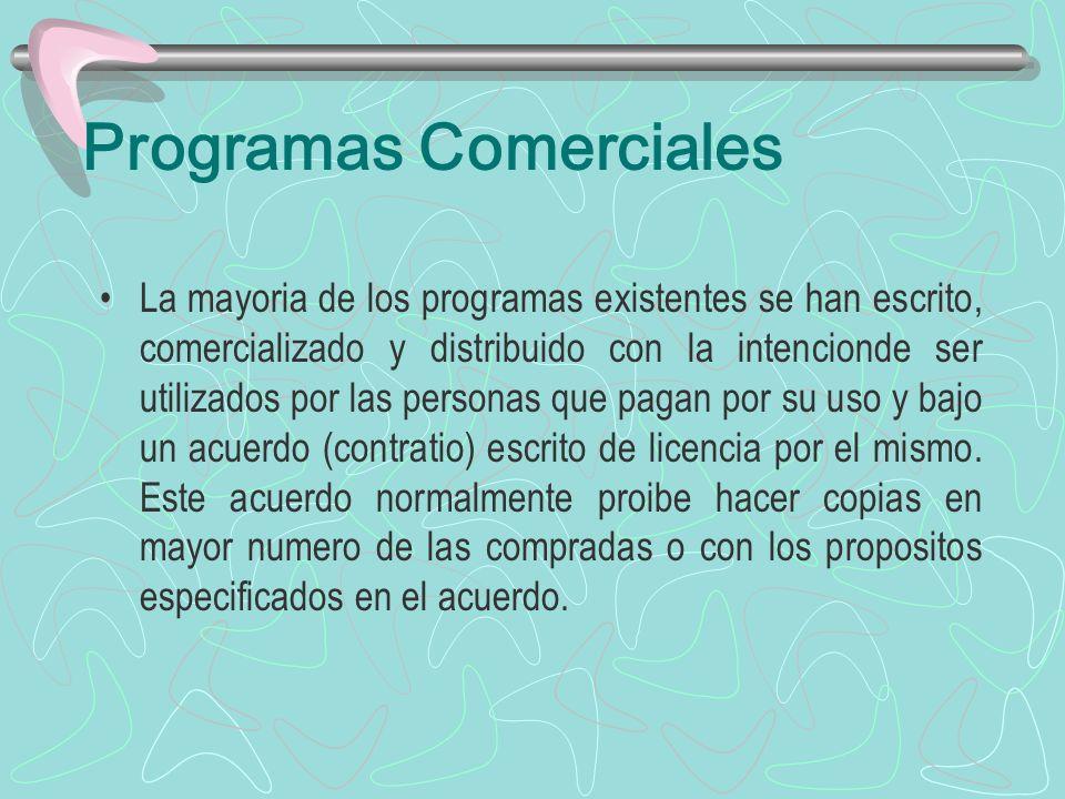 Programas Comerciales
