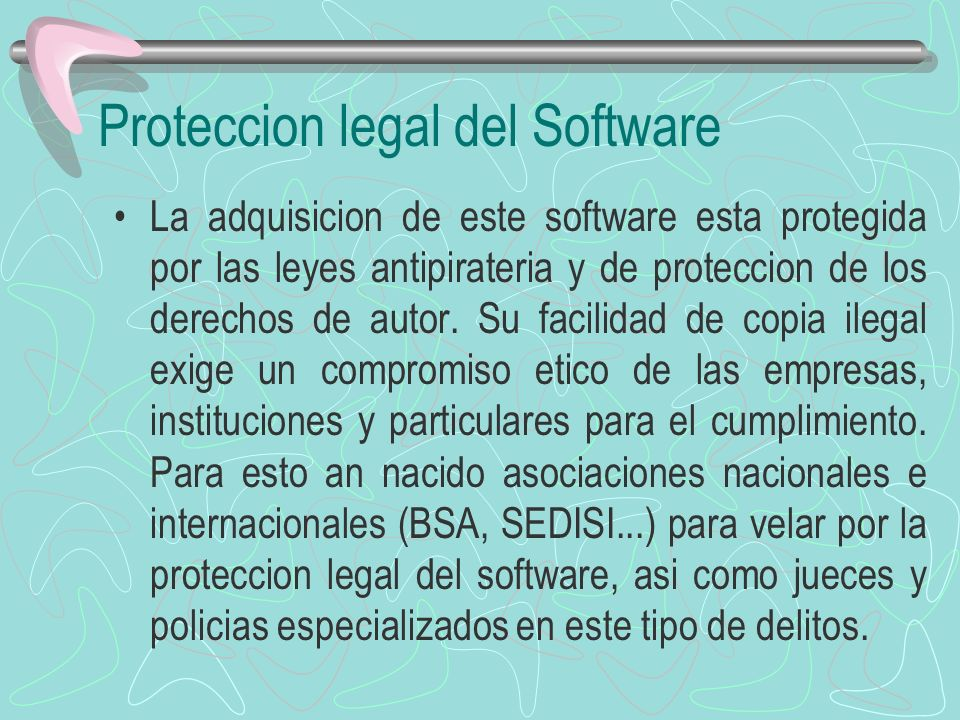 Proteccion legal del Software