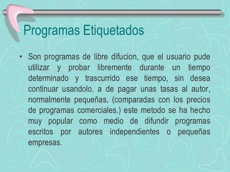 Programas Etiquetados