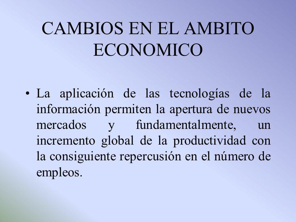 CAMBIOS EN EL AMBITO ECONOMICO