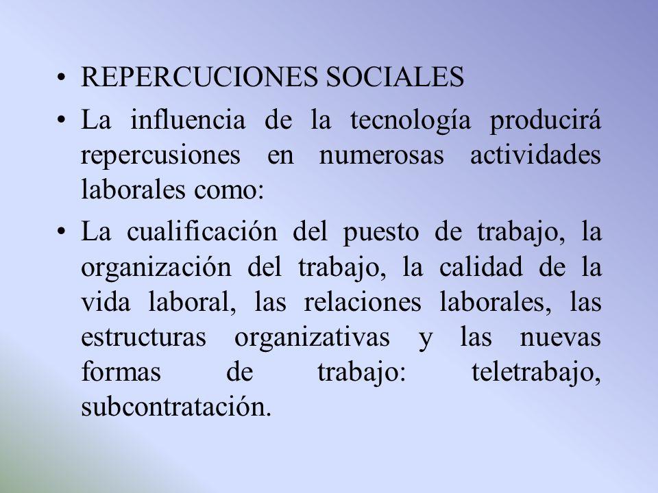 REPERCUCIONES SOCIALES