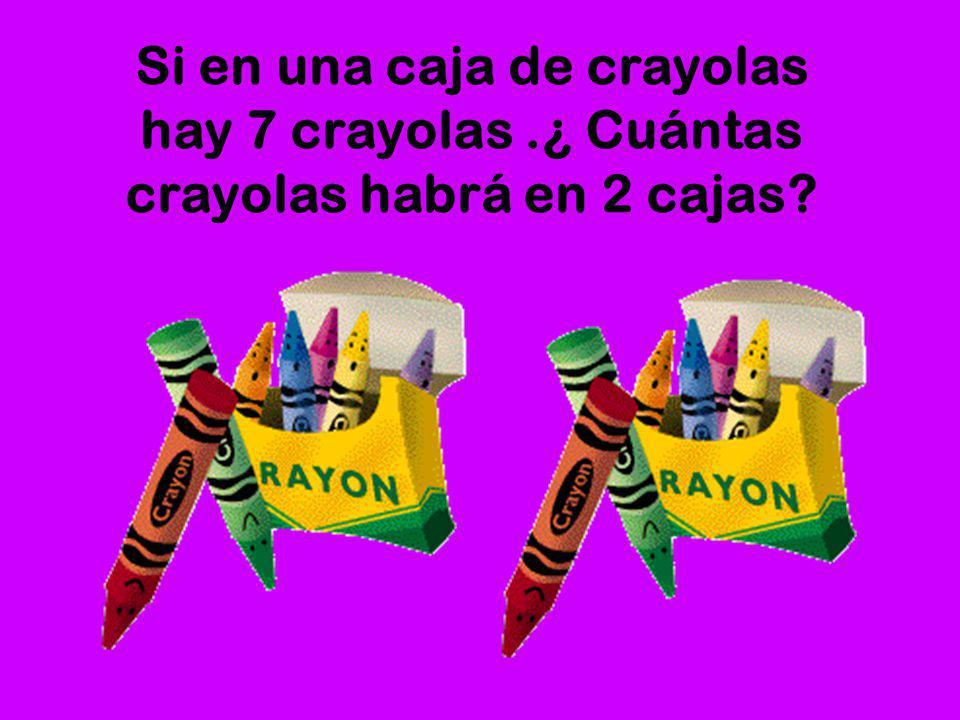 Si en una caja de crayolas hay 7 crayolas
